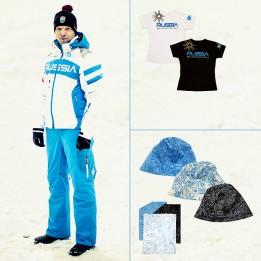 Комплект Парадный мужской (парадная куртка, горнолыжные брюки, футболка, шапка, повязка на шею)