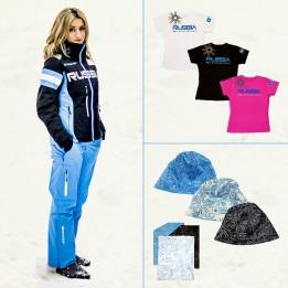 Комплект Инструкторский женский (инструкторская куртка, горнолыжные брюки, футболка, шапка, повязка на шею)