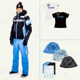 Комплект Инструкторский мужской (инструкторская куртка, горнолыжные брюки, футболка, шапка, повязка на шею)